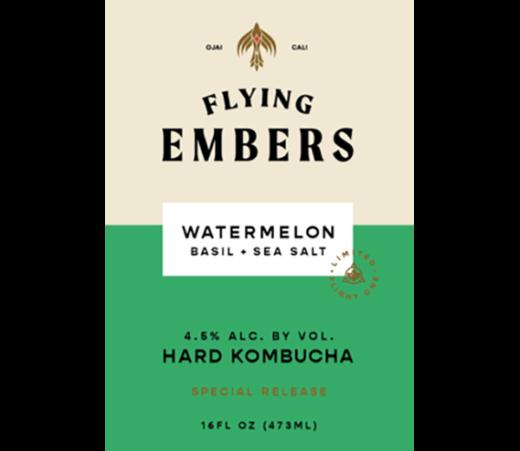 FLYING EMBERS WATERMELON BASIL KOMBUCHA